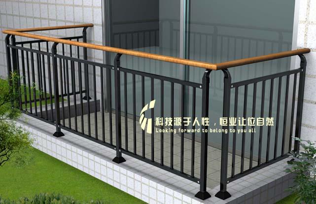 阳台栏杆-钢木结合系列-精品中心-东莞市恒业护栏